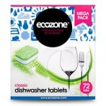 Ecozone Classic All in One Dishwasher Tabs (72 pack)
