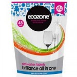 Ecozone Brilliance All In One Dishwasher Tablets – 45