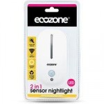 Ecozone 2 in 1 Sensor LED Energy Saving Night Light