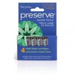 Preserve Triple Replacement Razor Blades (4 cartridges)
