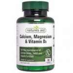 Natures Aid Calcium, Magnesium & Vitamin D3 – 90 tablets