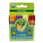 Badger Balm Classic Lipcare Kit Green (x 4 lip balms)