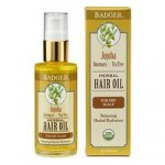Badger Jojoba Hair Oil for a dry scalp